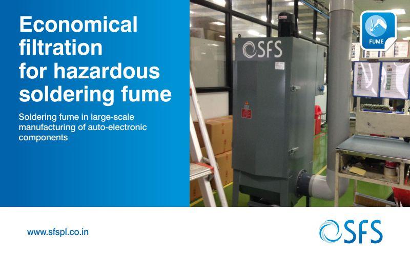Economical filtration for hazardous soldering fume
